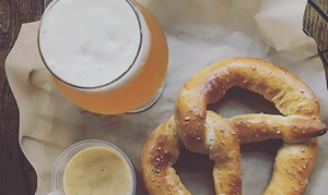 Two or Four Pints of Beer with One or Two Regular and Stuffed Pretzels at The Hop Knot (Up to 43% Off)