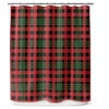 Holiday Plaid-Print Shower Curtain