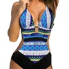 Patterned Plunge Swimsuit