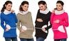 Bequemes Sweatshirt für Schwangere aus 100% Baumwolle in der Größe und Farbe nach Wahl (Hamburg)