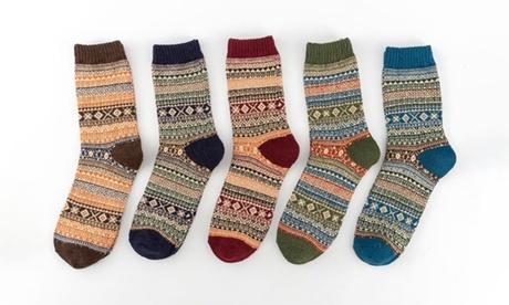 1 o 2 packs de 5 calcetines térmicos de invierno para mujer