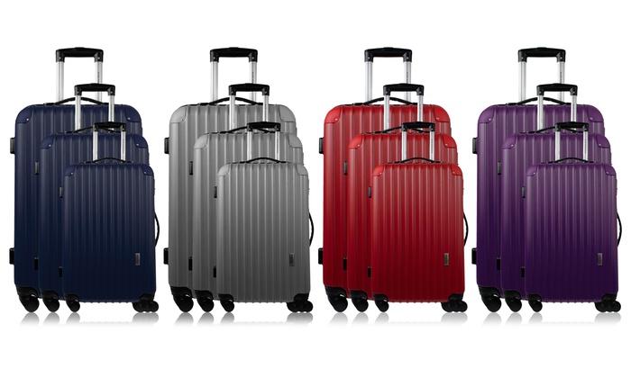 nouveau concept 3bb50 c5042 Set 3 valises ABS Alain Manoukian | Groupon Shopping