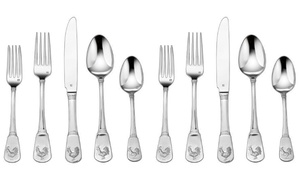 Cuisinart French Rooster Elite Flatware Set (20-Piece or 40-Piece)