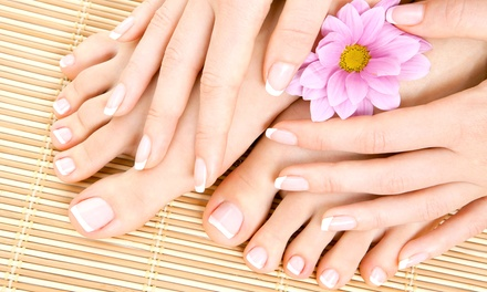 $29.99 for One Manicure and Spa Pedicure from Timeless Nails by Pachoua ($65 Value)
