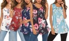 Lilly Posh Women's Floral Sleeveless Tee. Plus Sizes Available