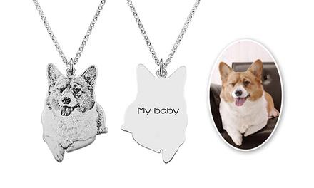 Zilveren ketting met hanger van je huisdier via Justyling