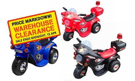 $55 for a Kids' Highway Patrol Ride-On 6v Motorcycle