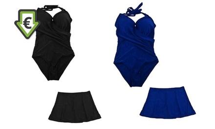 3dbdbf5ce9 1 ou 2 maillots de bain gainant avec jupe amovible, 2 coloris et taille au