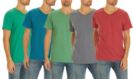 Men's Fruit Of The Loom T-Shirts (5-Pack). Extended Sizes Available.