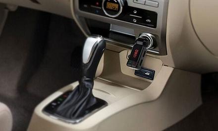 1 o 2 kit per auto a mani libere con lettore MP3 Bluetooth e trasmettitore FM