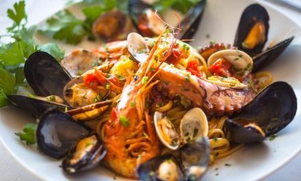 Menu di pesce e bottiglia di vino a 39,90€euro