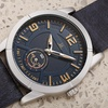 Men's Joshua & Sons JX135 60 Second Sub Dial Leather Strap Watch