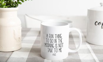 Up to 80% Off Personalized Sarcastic Morning Mugs from Qualtry