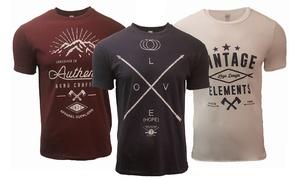 Pack de 3 t-shirts homme Messages