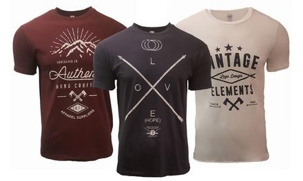 Pack de 3 t shirts homme Printed, manches courtes 100% coton