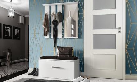 Set di mobili da ingresso Onyks composto da mobile con 3 appendini ...