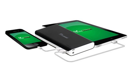 LifeCHARGE Jumbo 16,000mAh Dual-Port USB External Backup Battery