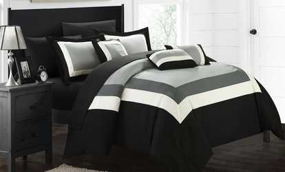image placeholder image for geometric pattern bed in a bag comforter sets 10piece