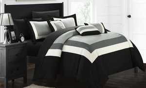 Geometric Pattern Bed in a Bag Comforter Sets (10-Piece)