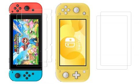 2 ou 4 films protecteurs en verre trempé pour console nintendo switch ou switch lite
