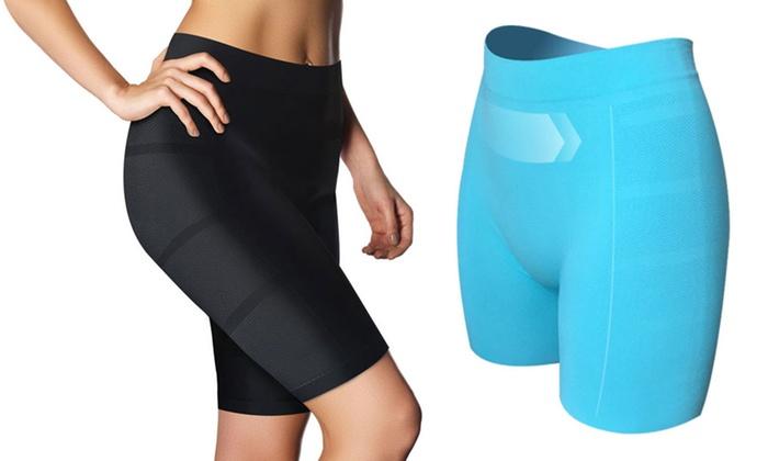 Groupon Goods Global GmbH: Skin Up Slimming-Hose mit Jade-Fiber und Cryoslim-Technologie für Damen in Schwarz oder Grün