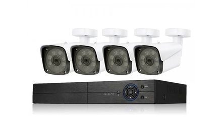 Kit videoregistratore digitale ibrido Star 5 con 4 telecamere
