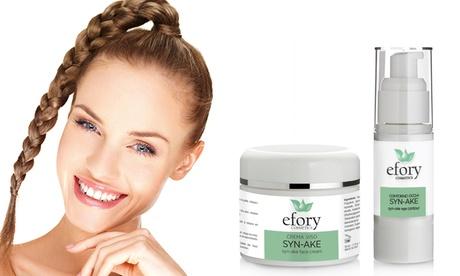 1 o 2 packs de crema facial y crema de contorno de ojos SYN AKE de Efory Cosmetics