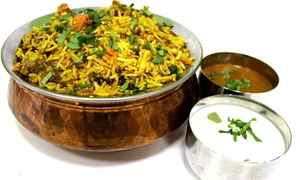Rajula's Indian Kitchen: Vegetarian Indian Food at Rajula's Kitchen (Up to 40% Off). Four Options Available.