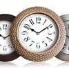 """14"""" Wall Clock with Woven Look"""