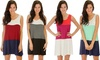 Lyss Loo Color-Block Tunic Dress in Regular and Plus Sizes