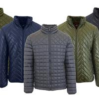 Groupon.com deals on Galaxy Spire Mens Mid-Weight Quilted Puffer Jackets