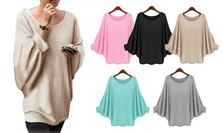 Lightweight Batwing Knit Top: One $15 or Two $25