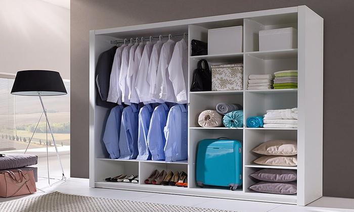Ongebruikt Moderne kledingkast met spiegel | Groupon Goods EL-99