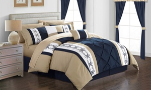 Urion Pinch-Pleat Bed-in-a-Bag Set (20-Piece)