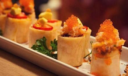 Menu sushi, classico o Deluxe, con vino