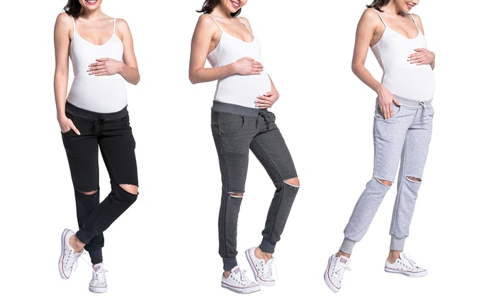 Groupon Goods Global GmbH: One or Two Pairs of Maternity Sweatpants in Choice of Colour