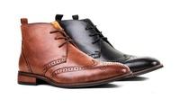 Signature Mens Wingtip Brogue Dress Boots