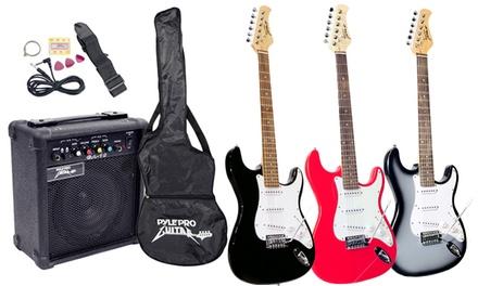pylepro pegkt15 beginner electric guitar package groupon. Black Bedroom Furniture Sets. Home Design Ideas