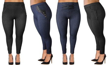 Two-Pack of Womens High Jeggings