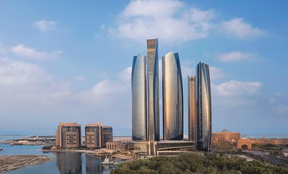 5* Pool and Beach Access with AED 100 to Spend Each for One or Two at Jumeirah Etihad Towers (Up to 40% Off)