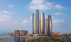 Pool Bar at Jumeirah Etihad Towers: 5* Pool and Beach Access with AED 100 to Spend Each for One or Two at Jumeirah Etihad Towers (Up to 40% Off)