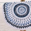 Tribal-Inspired Round Beach Towel and Throw