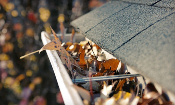 Columbia Exteriors - Kenwood: Gutter Cleaning for Up to 4,000 or 6,000 Square Feet or Roof Winterization from Columbia Exteriors (Up to 75% Off)