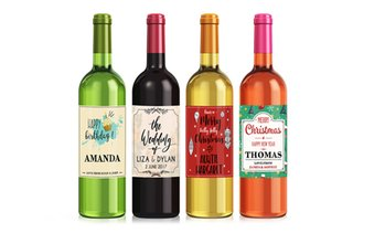 Personalised Wine Label Packs