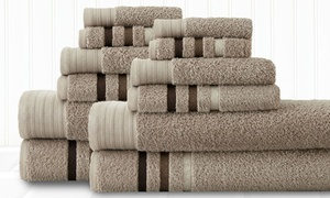 12-piece 500gsm Egyptian-cotton Towel Set