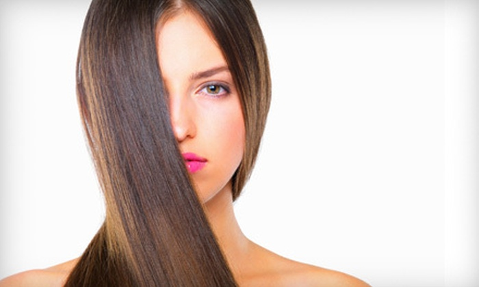 Brush Salon - Long Branch City: Haircut Package With or Without Single-Process Color or Partial Highlights at Brush Salon in Long Branch (Up to 71% Off)