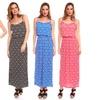 Women's Geometric-Print Spaghetti-Strap Maxi Dress