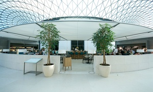 The Great Court Restaurant: Three-Course Themed Meal for One or Two at The Great Court Restaurant, British Museum (Up to 31% Off)