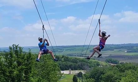 Two Zip Line Rides for One Person, Valid on Weekdays or Weekends at Zipline Omaha (Up to 22% Off)