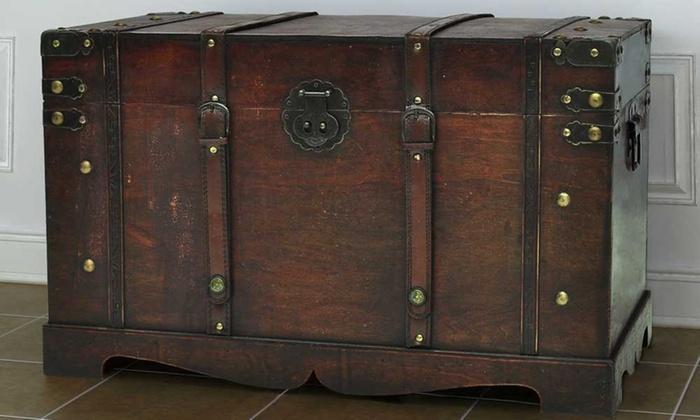Baule in legno vintage | Groupon Goods